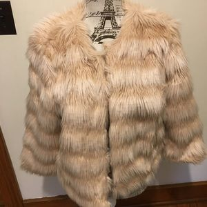 Mossimo pink Faux fur jacket